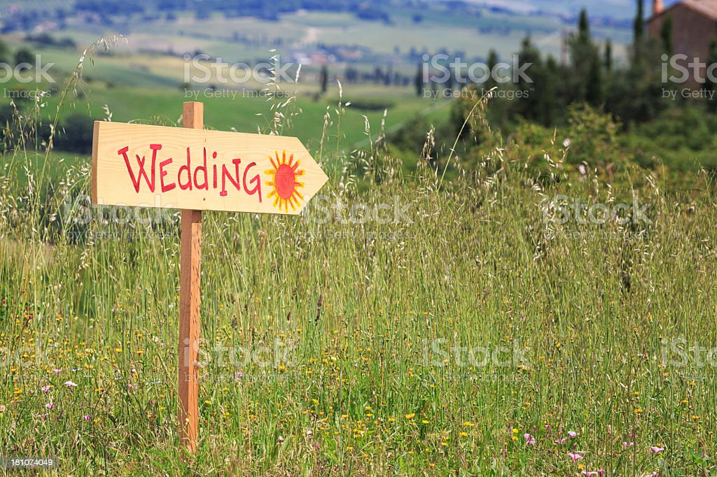 Wedding in Tuscany royalty-free stock photo