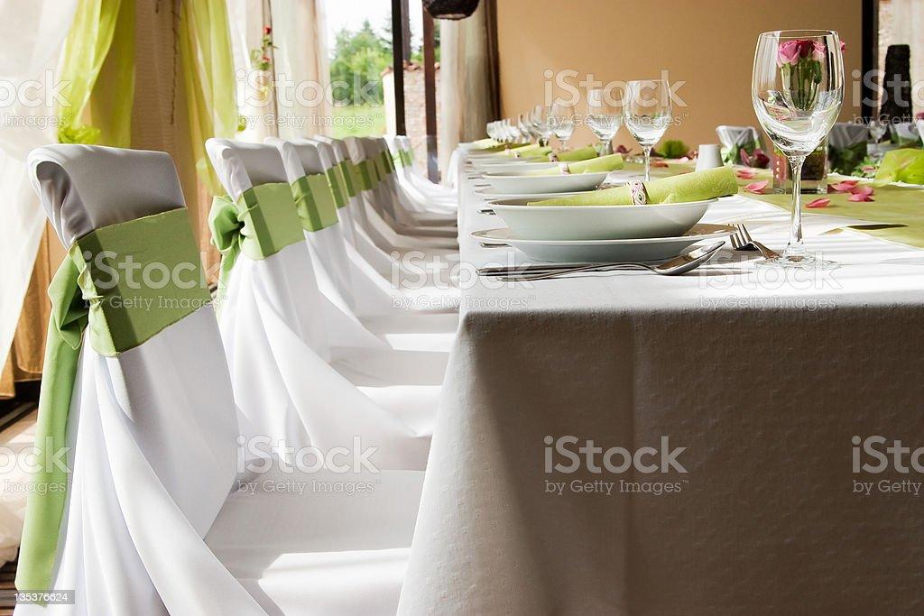 Wedding interior royalty-free stock photo