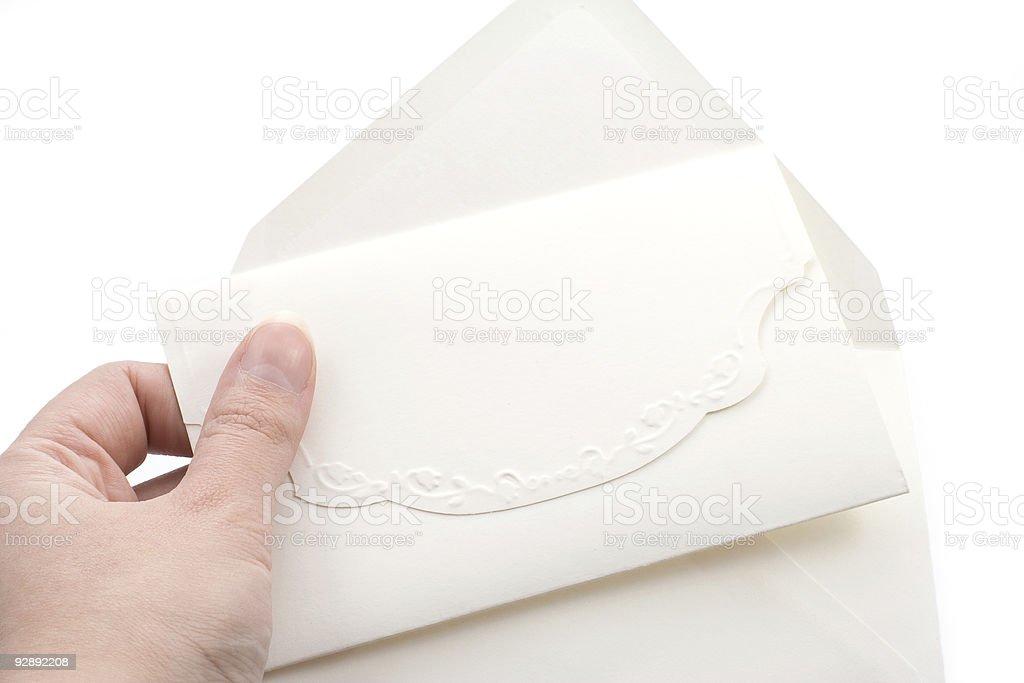 Wedding invitation and envelope royalty-free stock photo