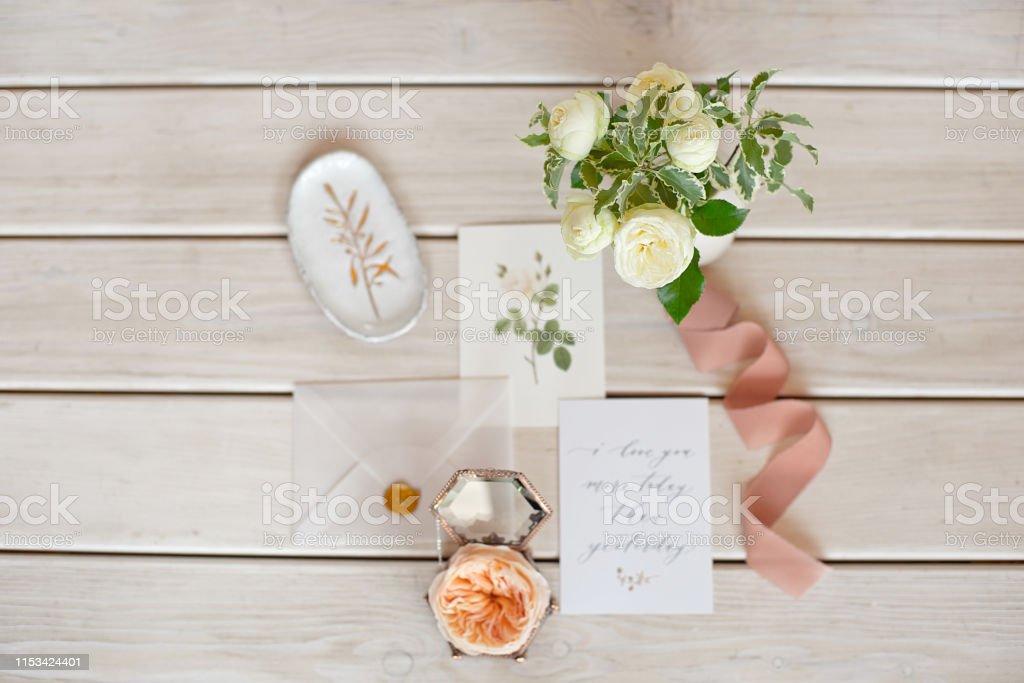 Photo Libre De Droit De Carte Dinvitation De Mariage Avec