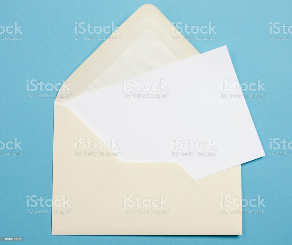 Wedding Invitation envelope for mailing to guests stock photo