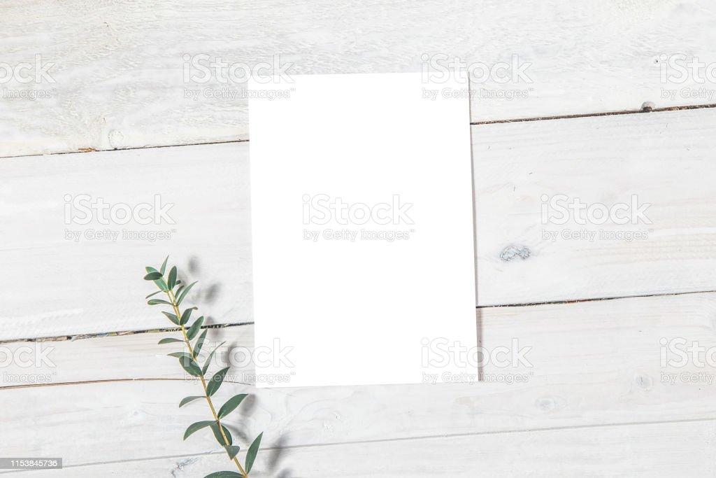 Mockup Invitación De Boda Tarjeta De Invitación En Blanco