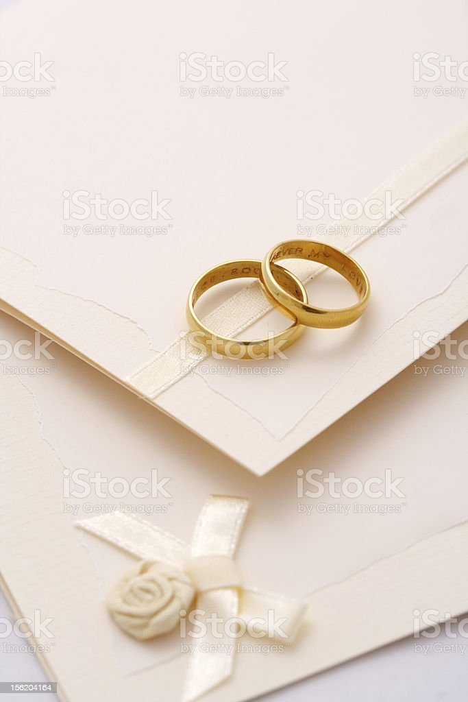 wedding invitation royalty-free stock photo