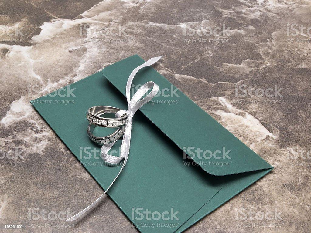 Wedding invitation symbol royalty-free stock photo