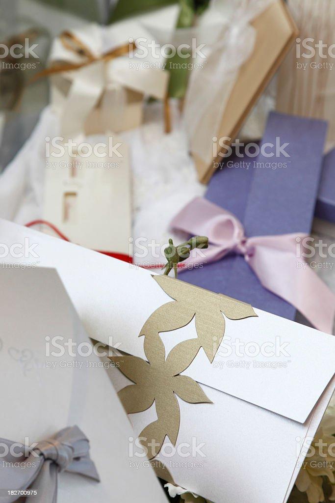 Wedding invitations royalty-free stock photo