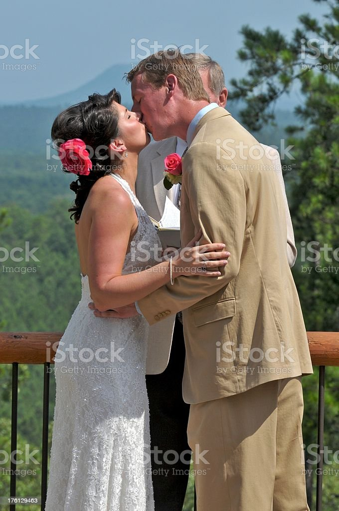 Wedding Kiss royalty-free stock photo