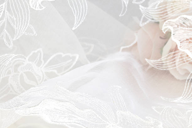 Wedding lace background Wedding lace background with pink rose lace textile stock pictures, royalty-free photos & images