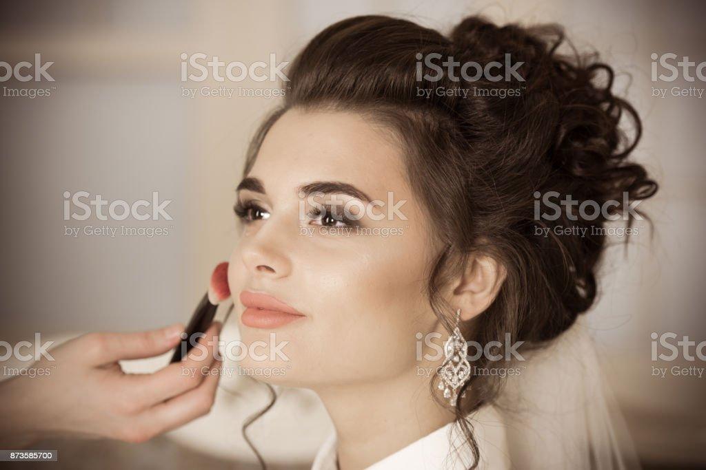 Hochzeits-make-up für Braut – Foto