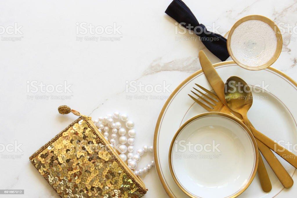 Wedding meal stock photo