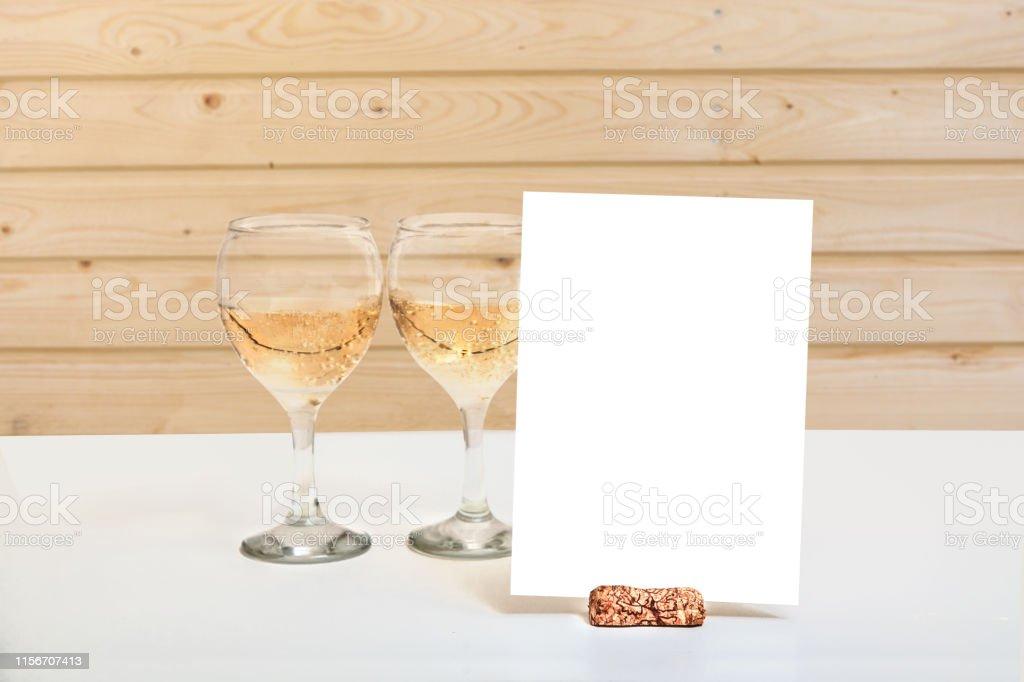 Wedding Menu Card Blank Invitation Mockup Info Card Design