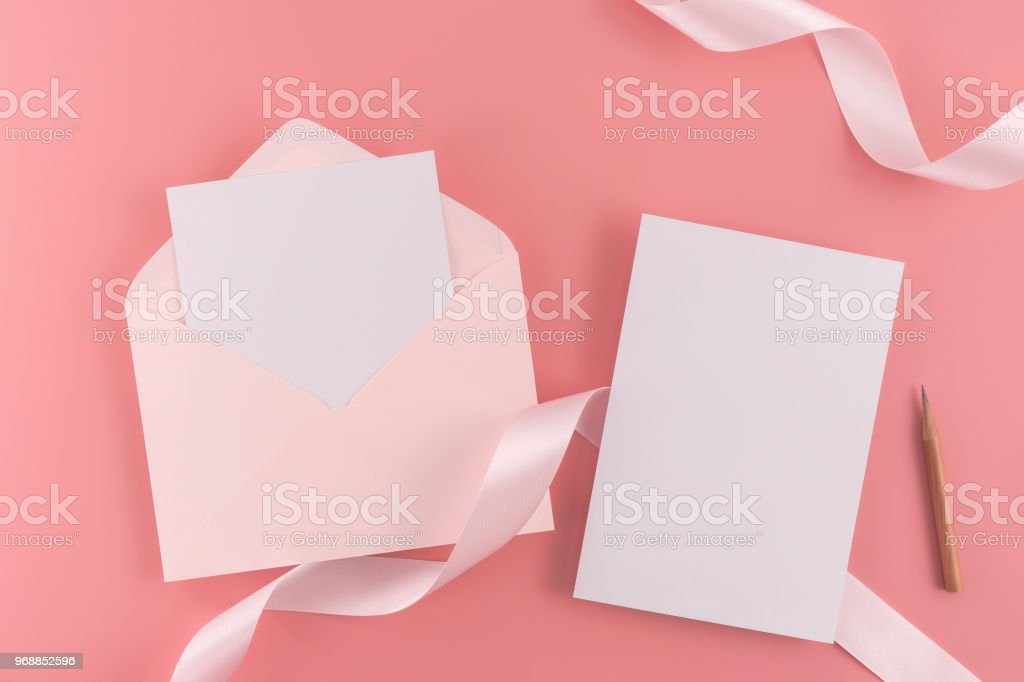 a wedding mock up concept wedding invitation envelopes cards papers