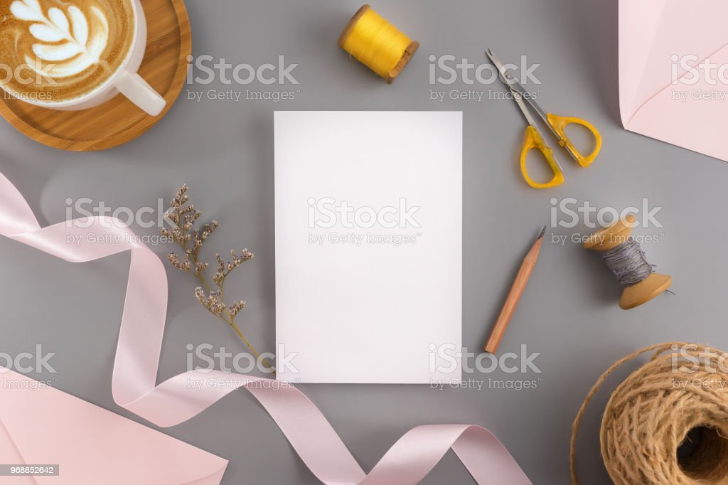 A Wedding Mock Up Concept Wedding Invitation Envelopes Cards Papers