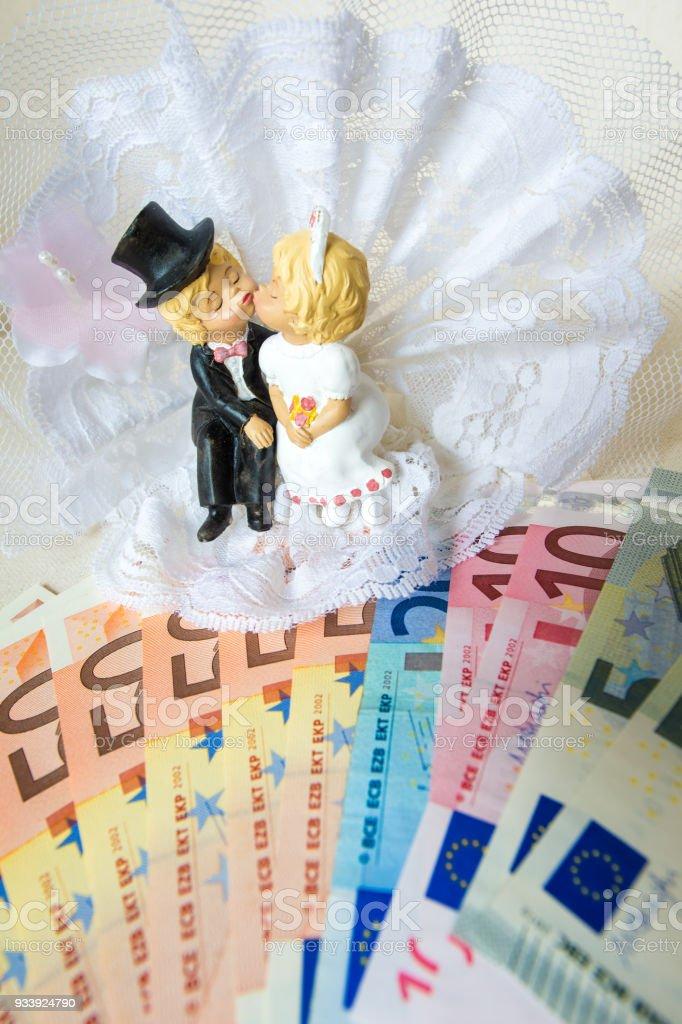Wedding money - Euro currency stock photo