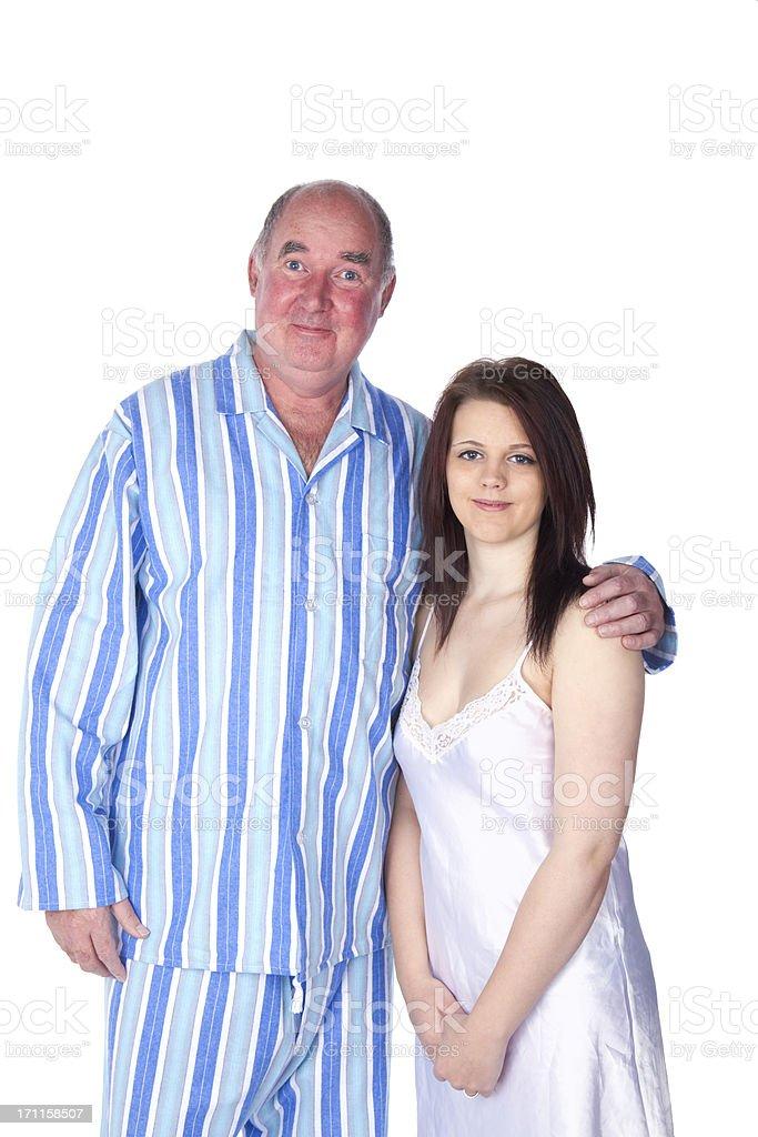 Wedding Night Series: The Happy Couple royalty-free stock photo