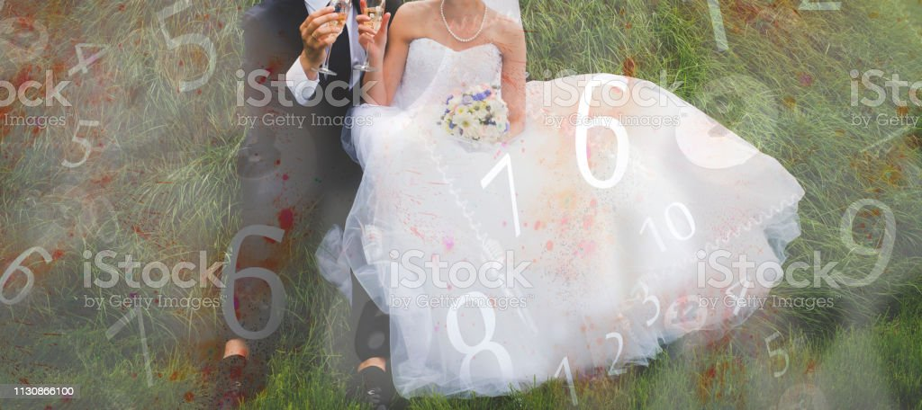 Wedding Numerology Figures And Marriage Stock Photo - Download Image Now
