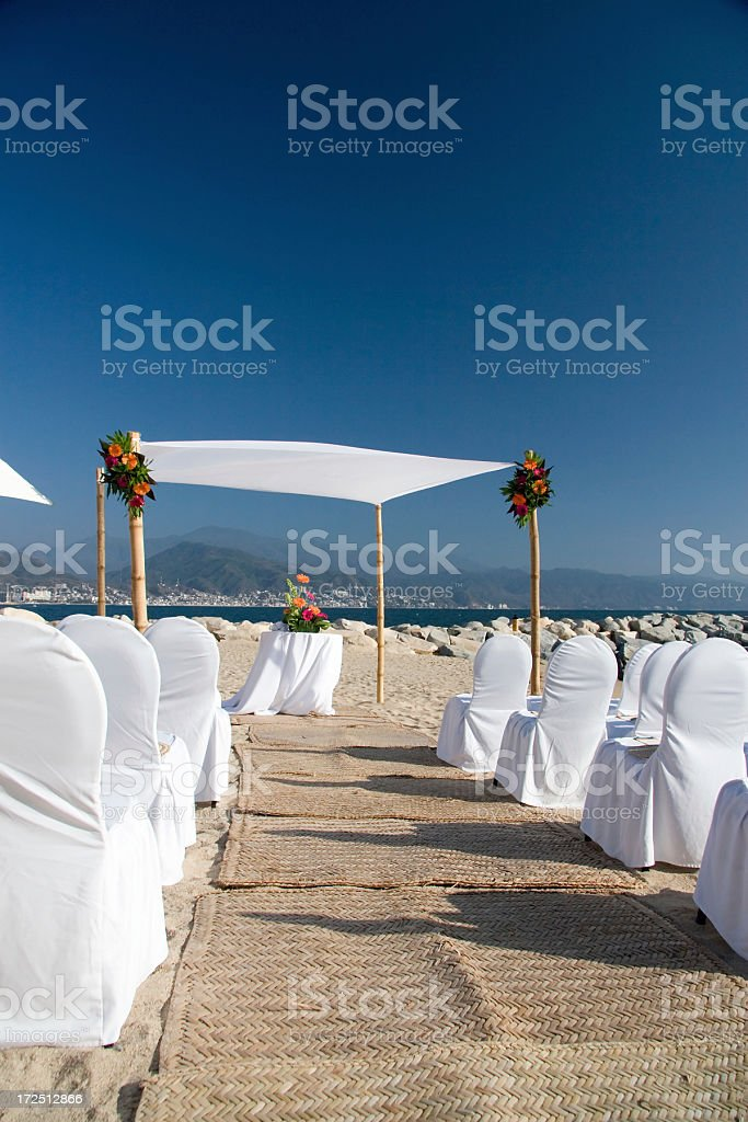 wedding on the beach in mexico royalty-free stock photo