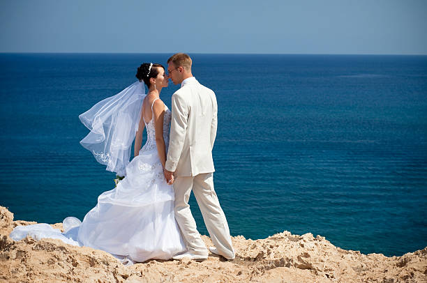 Wedding on the sea stock photo