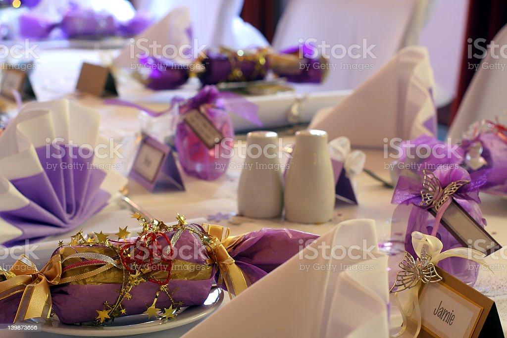 Wedding or birthday table setting, landscape royalty-free stock photo