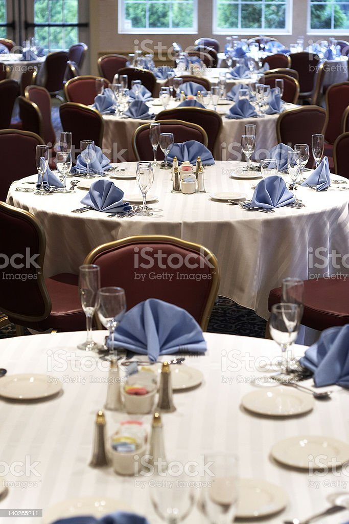 Wedding or restaurant tables royalty-free stock photo