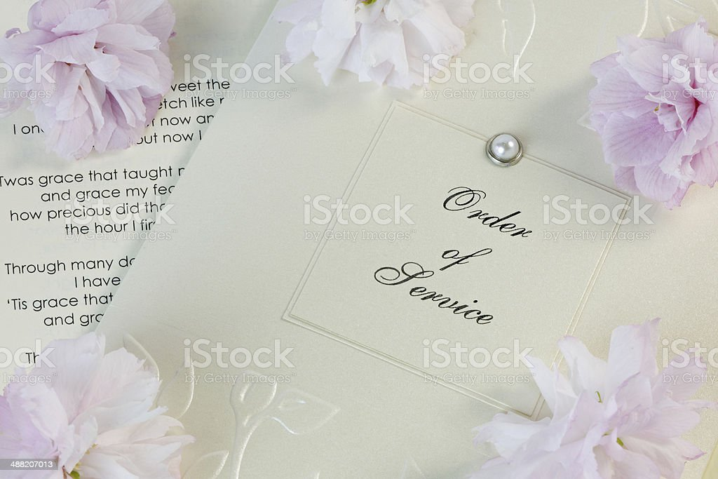 Wedding Order of Service stock photo