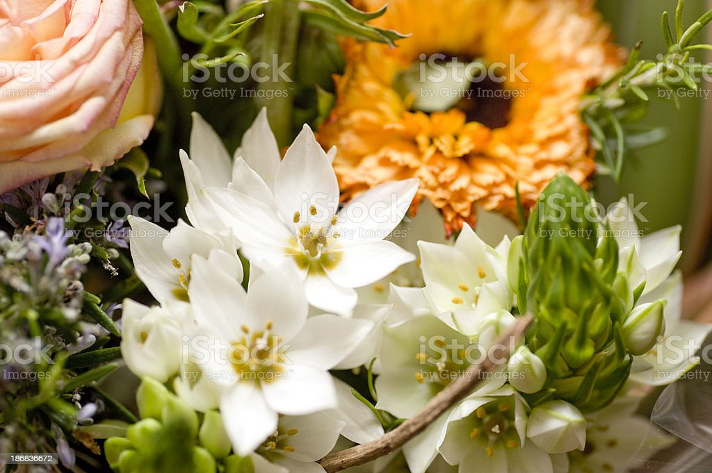 wedding ornament bunch of flowers background stock photo