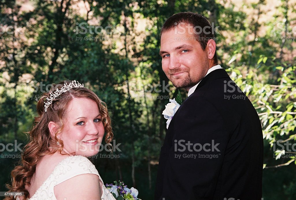 Wedding outdoors in the summer royalty-free stock photo