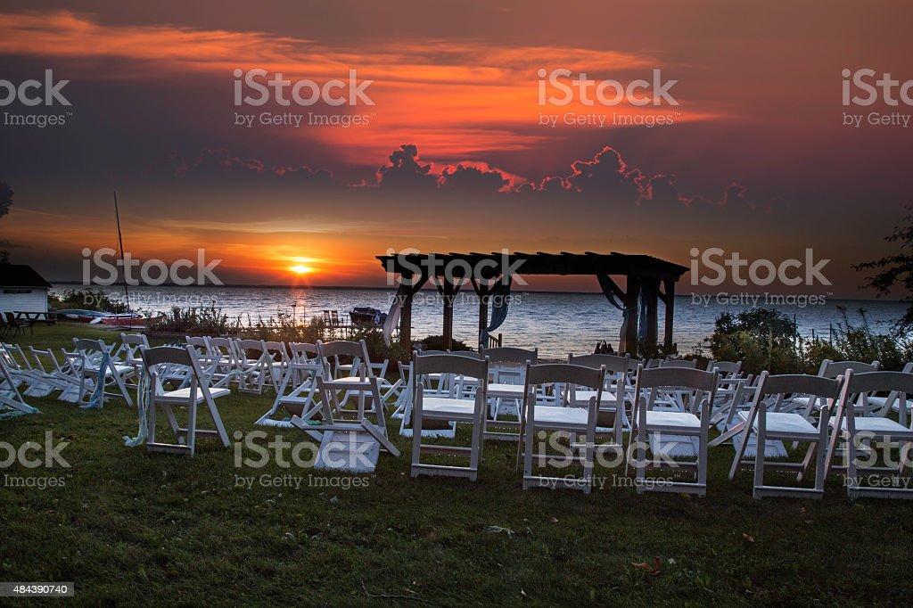 Wedding party crashers stock photo
