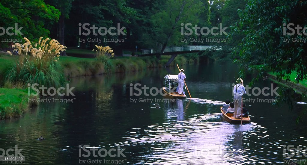 Wedding Party in boats 2 stock photo