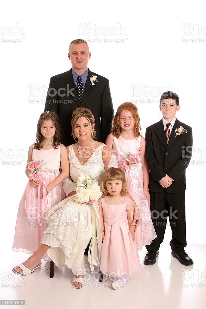 Wedding Party portrait stock photo