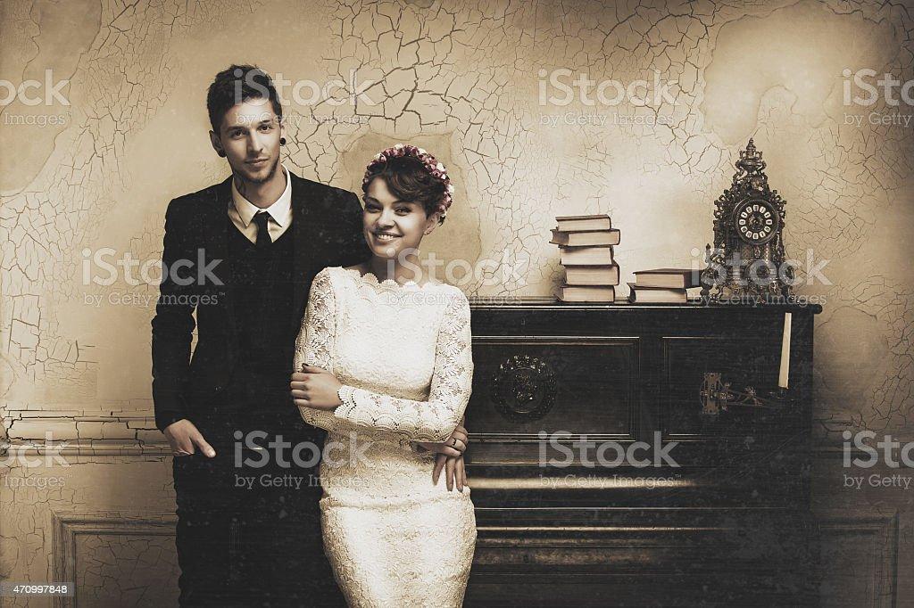 Wedding photo session in the Studio stock photo
