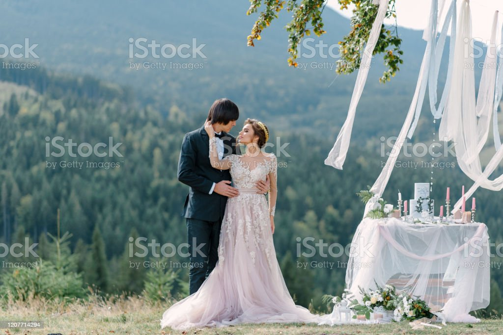 Wedding Photography In The Carpathians Wedding Ceremony In The Forest Stock Photo Download Image Now Istock