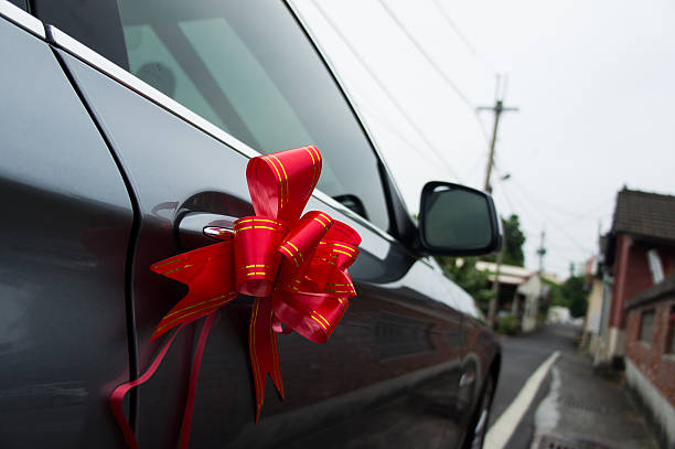 - hochzeit - autoschleifen stock-fotos und bilder