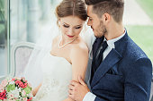 Beautiful just married couple. Wedding photography.