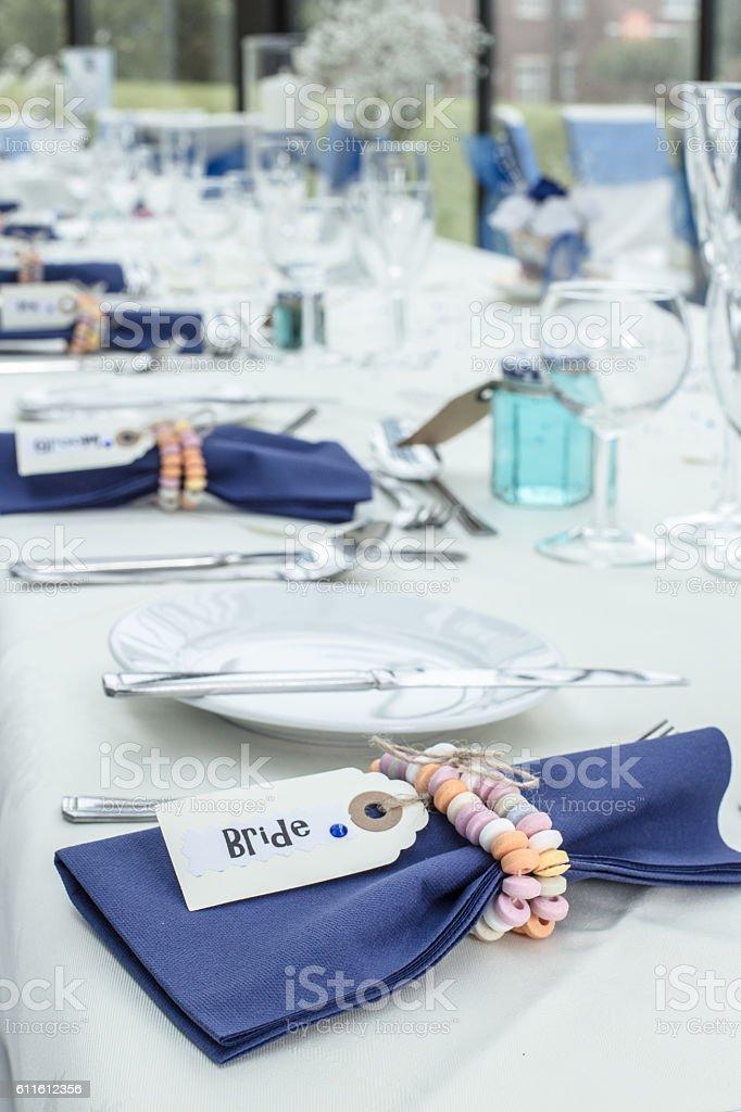 Aufbauten in Hochzeitsort – Foto