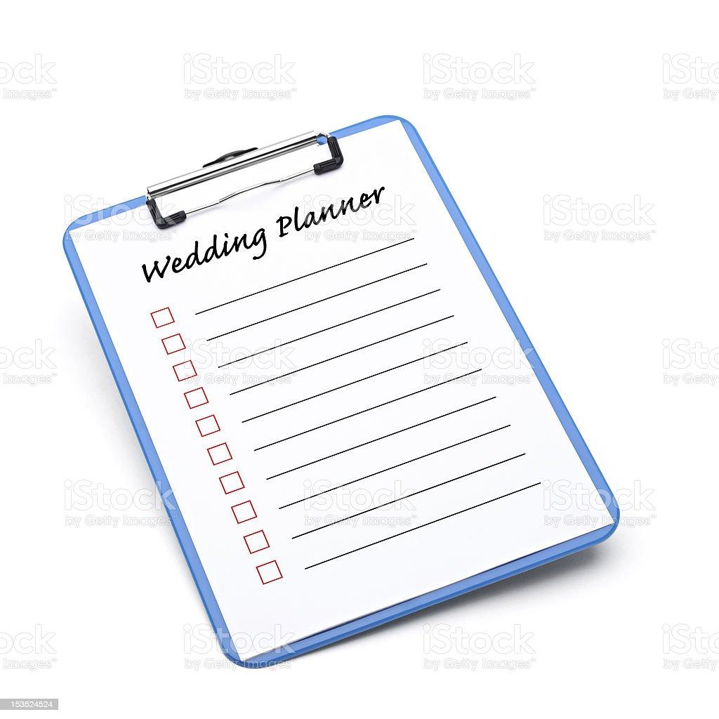 Wedding Planner royalty-free stock photo