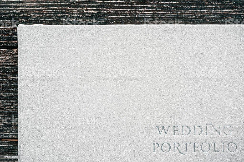 Wedding portfolio leather cover foto