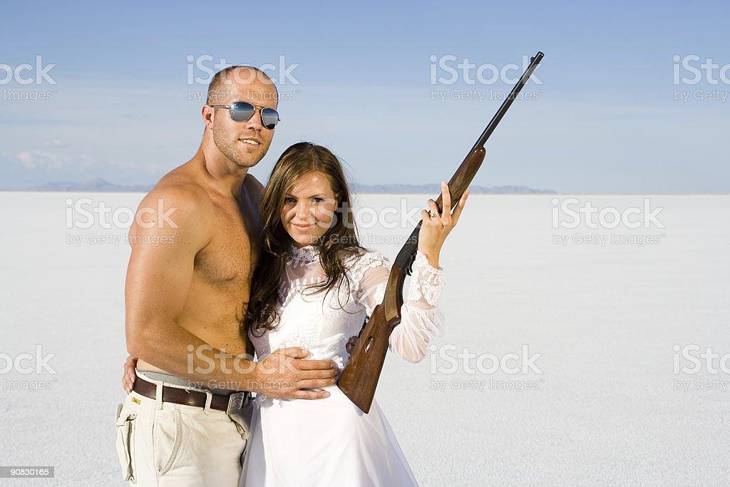 Wedding Portrait (smile) stock photo