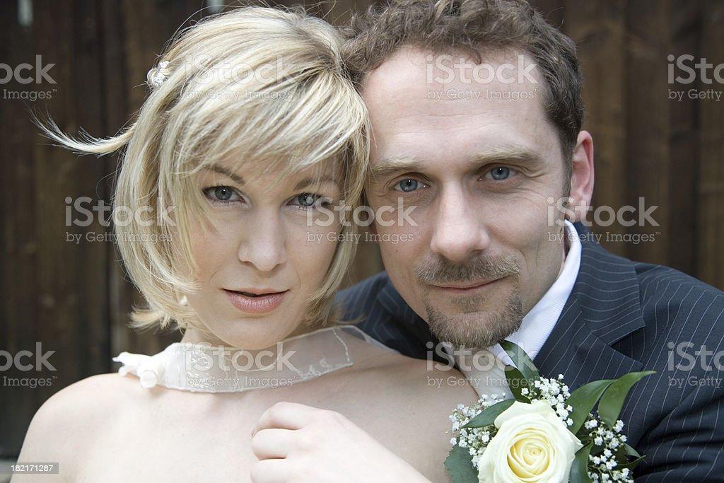 wedding portrait VI royalty-free stock photo