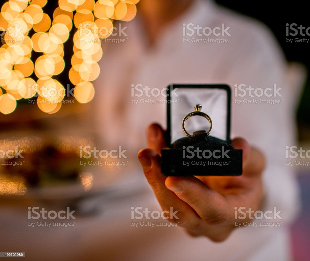 Wedding proposal stock photo