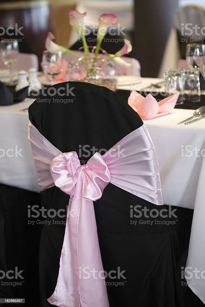 Wedding Reception Chair royalty-free stock photo