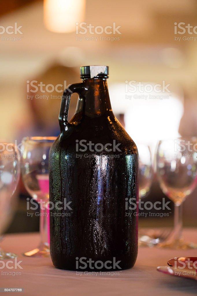 Wedding Reception Craft Beer Growler stock photo