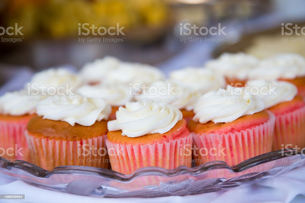 Wedding Reception Cupcakes stock photo