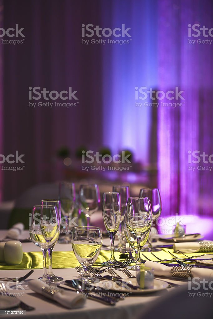 Wedding Reception Decoration, Chairs and Tables royalty-free stock photo