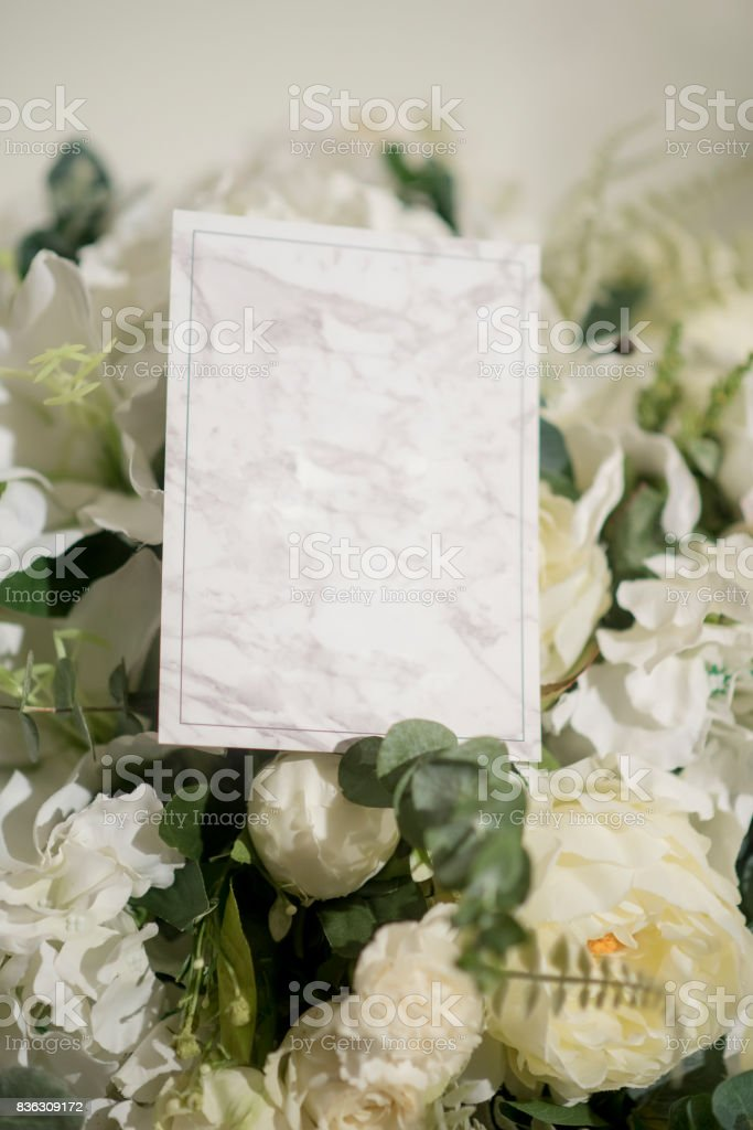 Wedding Reception Invitation Card Stock Photo Download