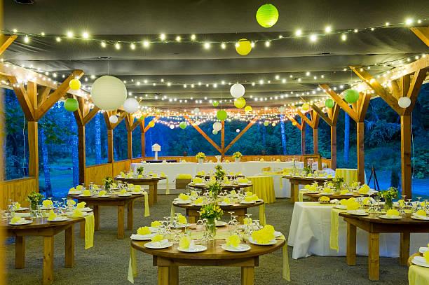 przyjęcie weselne - sala balowa zdjęcia i obrazy z banku zdjęć