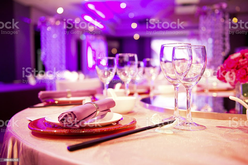 wedding reception stock photo