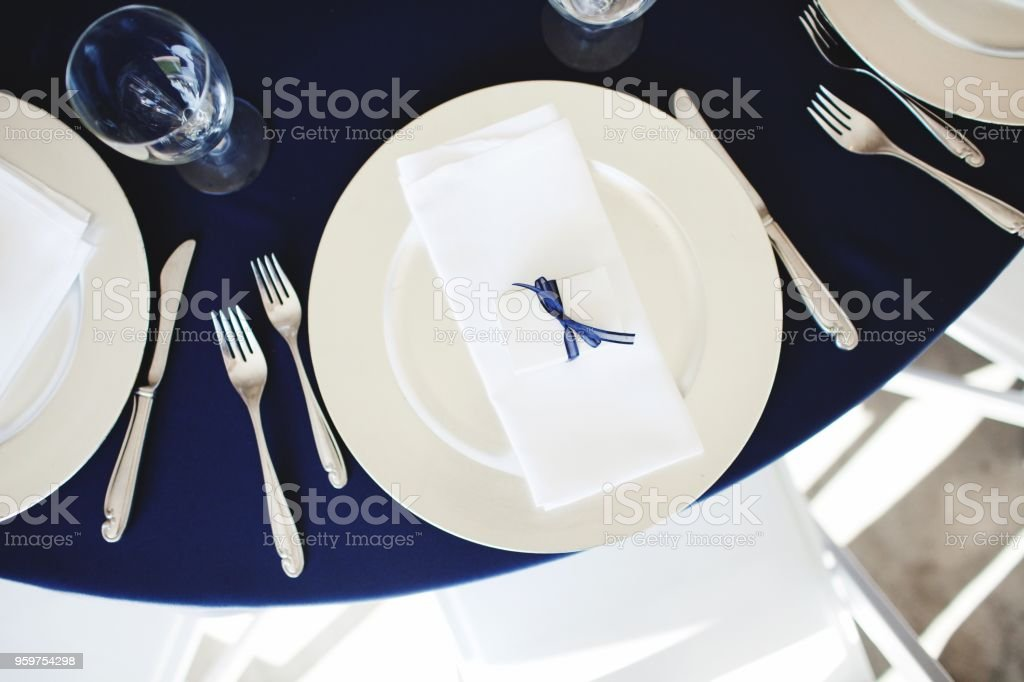 Wedding Reception Plates Stock Photo More Pictures Of Cafe Istock