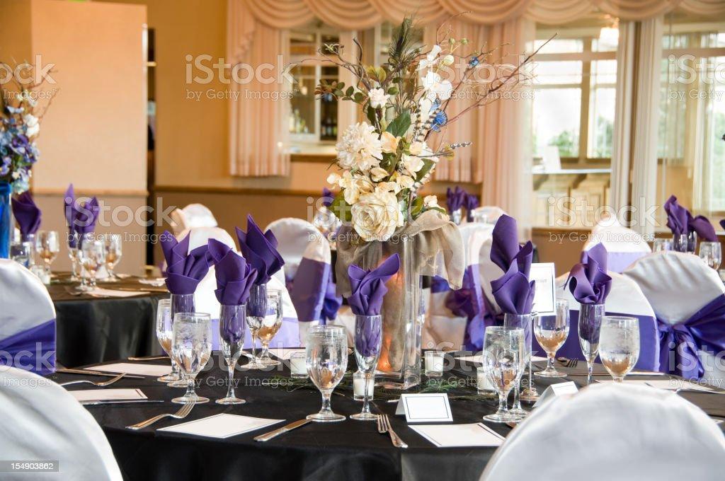 wedding reception restaurant stock photo