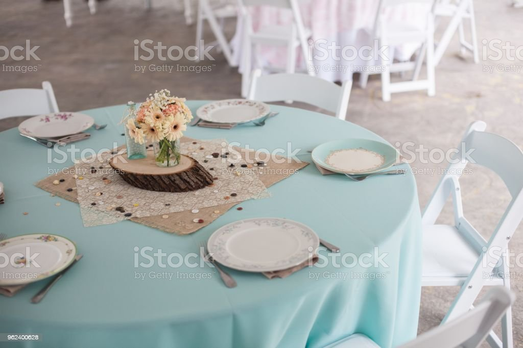 Wedding Reception Setup Of Table Stock Photo More Pictures Of