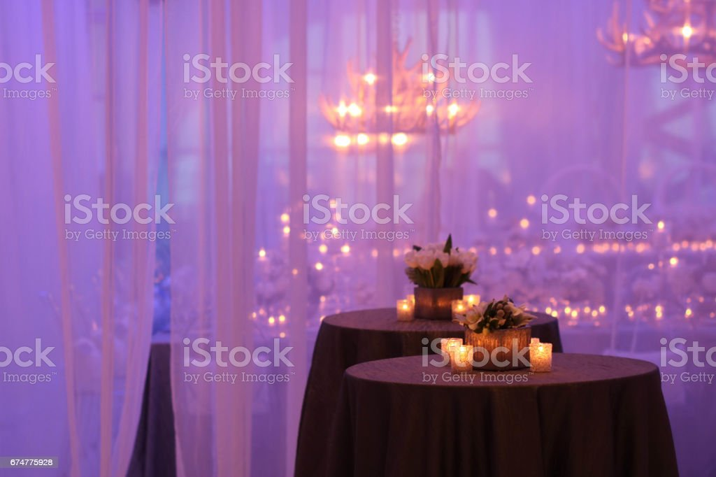 Wedding Reception table background stock photo
